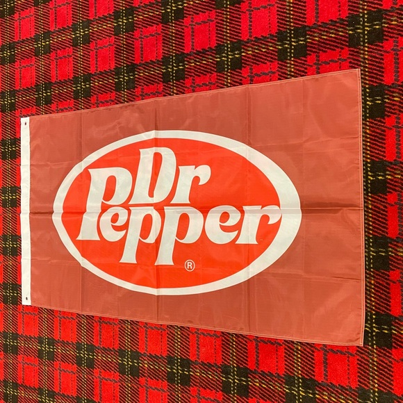Brand new Dr. Pepper banner flag